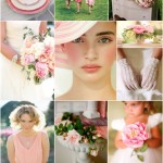 rose and green wedding colours