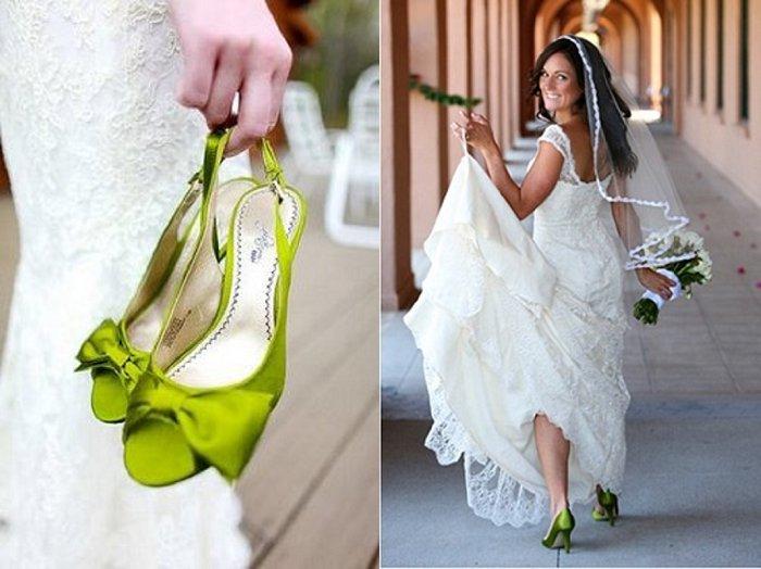 Image Source Pinterest Coloured Wedding Shoes