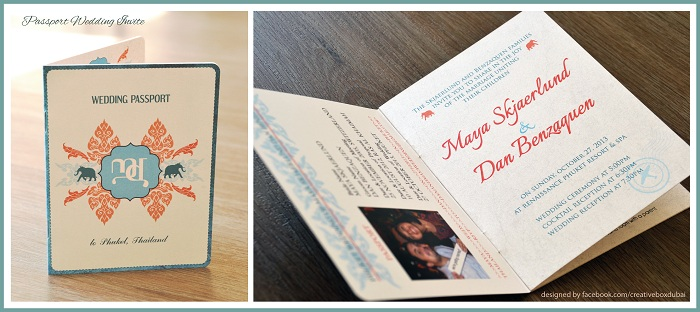 Destination Thailand -Passport Wedding Invite