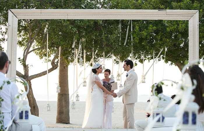 An Intimate Beach Wedding Ritz Carlton Dubai
