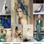 wedding colour scheme peacock