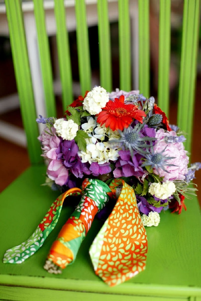 how to make a bridal bouquet wrap