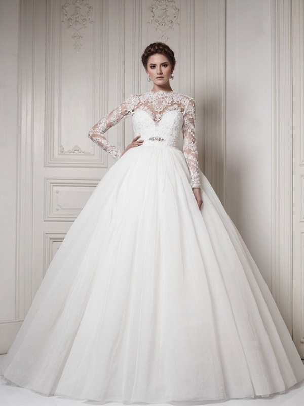 10 Stunning High Neckline Wedding Gowns The Modest Wedding Dress Trend