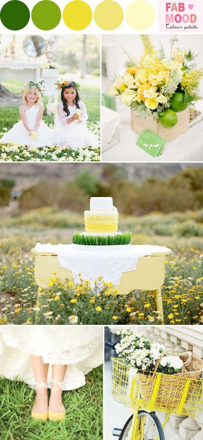 Wedding Colour Scheme {Green & Yellow}