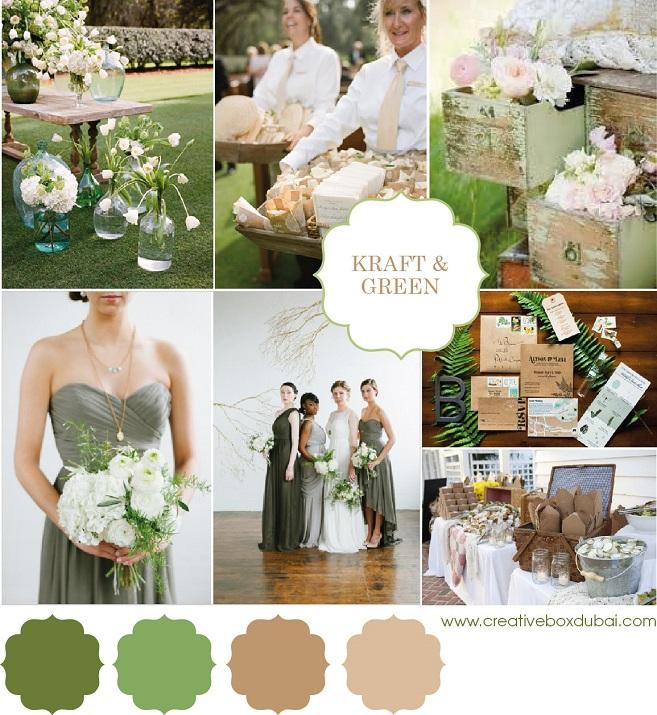 Wedding Colour Scheme {Kraft & Green}