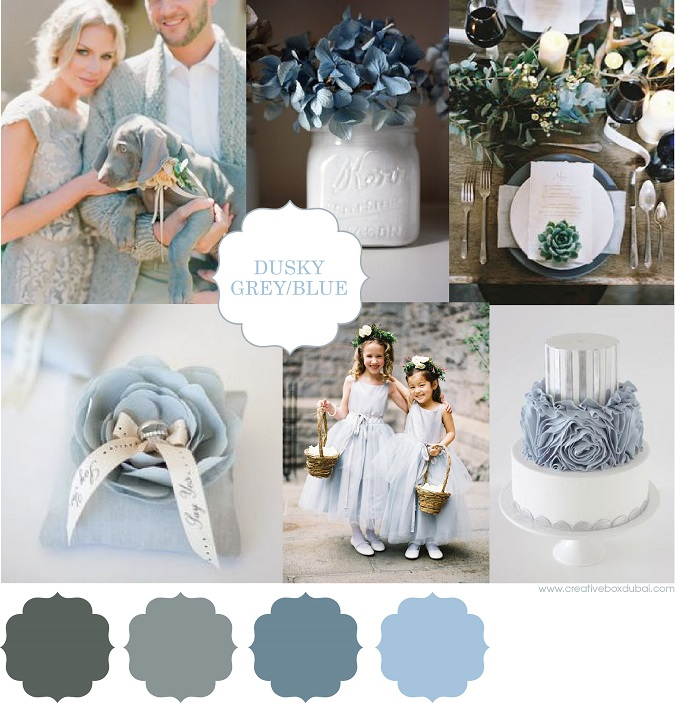 Wedding Colour Scheme Dusky Blue Amp Grey