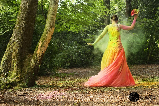 Trash The Dress ~ An Explosion Of Colour | Goldfish Photography & Video