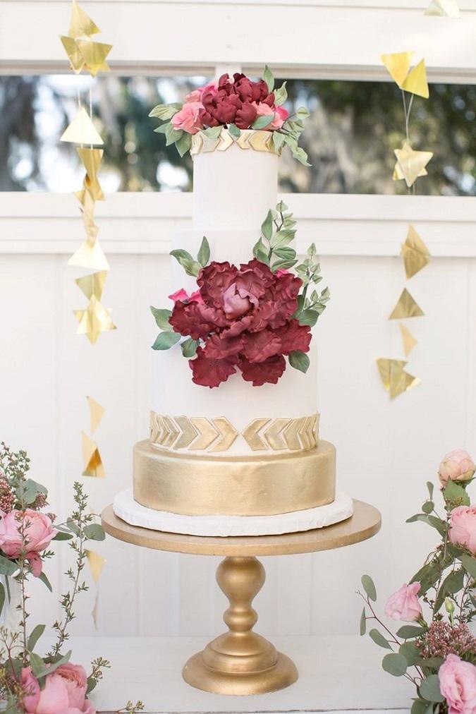 7 Marsala Wedding Cake Ideas