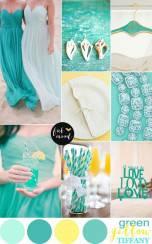 Wedding Colour Scheme {Green, Yellow & Tiffany}