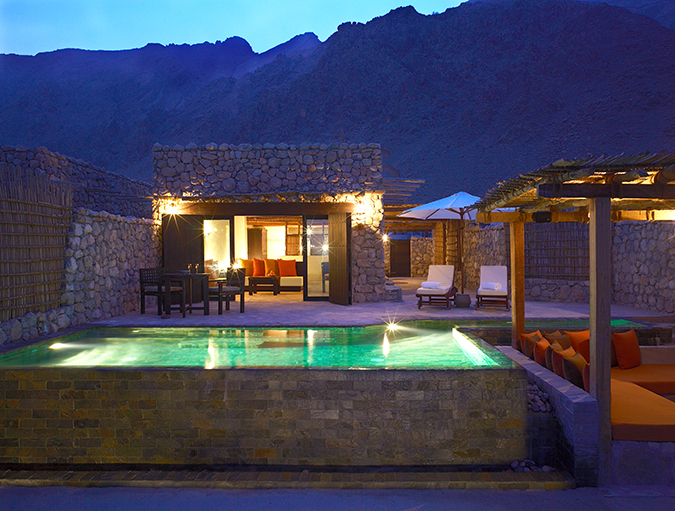 Six Senses Pool Villa Night