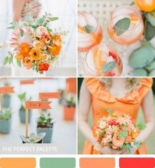 Wedding Colour Scheme {Orange & Sage}