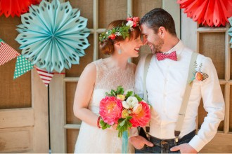 Wedding Colour Scheme {Red & Aqua}
