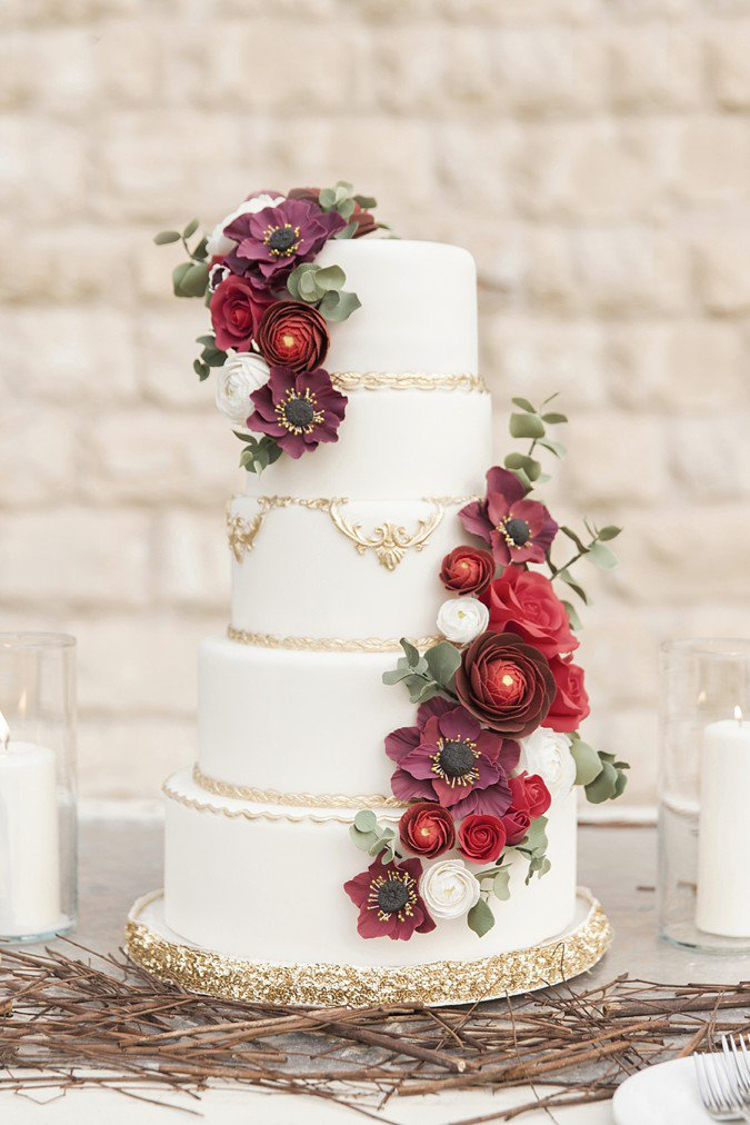 7 Marsala Wedding Cake Ideas