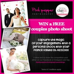 *** COMPETITION NOW CLOSED*** WIN A Free Couples Photoshoot With Pink Pepper Photography