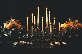 Wedding Colour Scheme {Gold & Black, All Hallows' Eve Inspired}