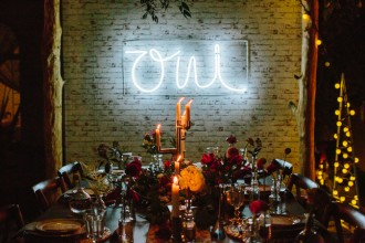 Styled Shoot: A Festive Tablescape with an Industrial/Rustic Twist