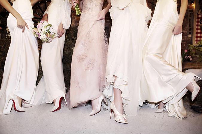 Christian Louboutin Shoes Accompany Jenny Packham & Naeem