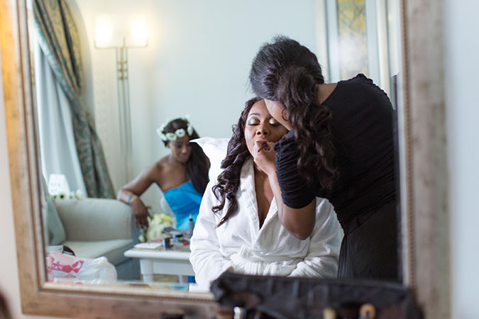 Nigerian destination wedding Dubai - getting ready