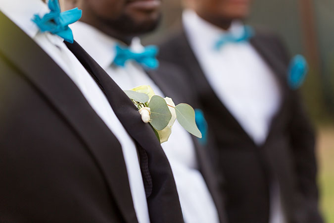 Nigerian destination wedding Dubai groomsmen