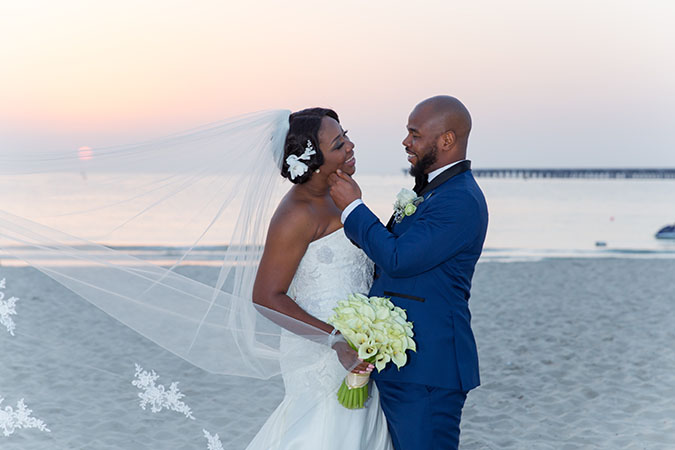 Nigerian destination wedding Dubai beach