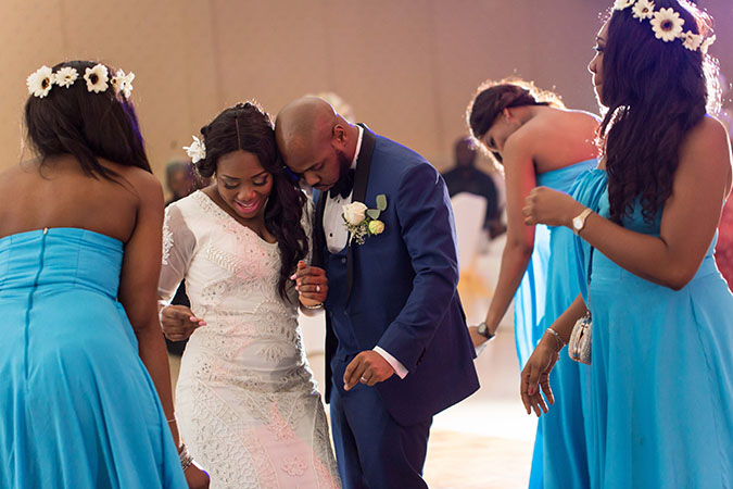 Nigerian destination wedding Dubai reception