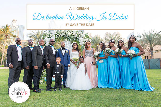 Nigerian destination wedding Dubai bride and groom