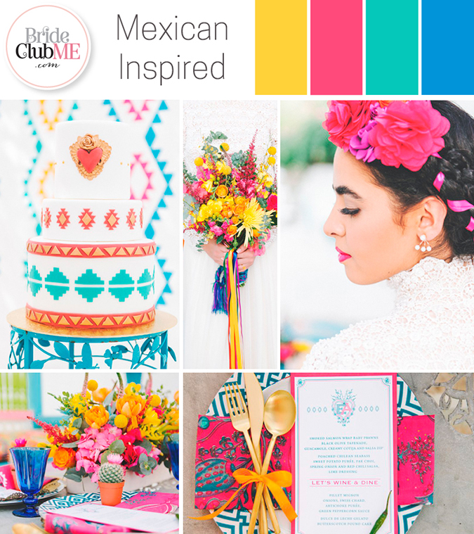 mexican-inspired wedding colour scheme