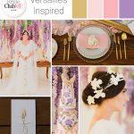 versailles inspired wedding colour scheme