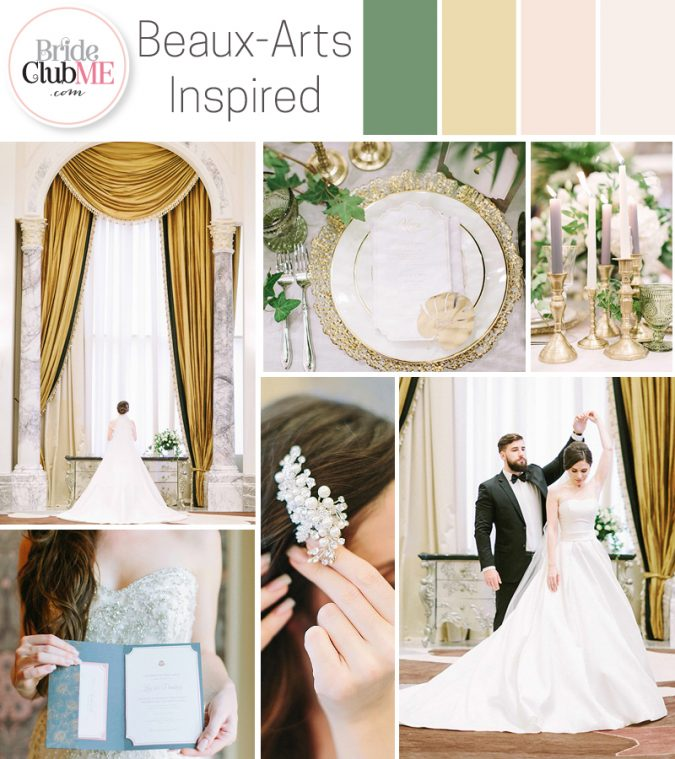 opulent wedding colour scheme