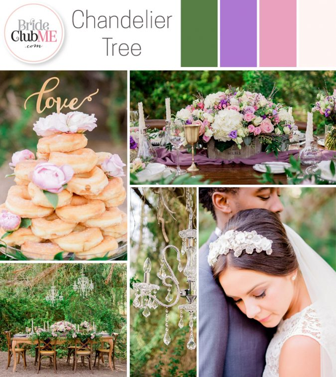 natural, regal wedding colour scheme