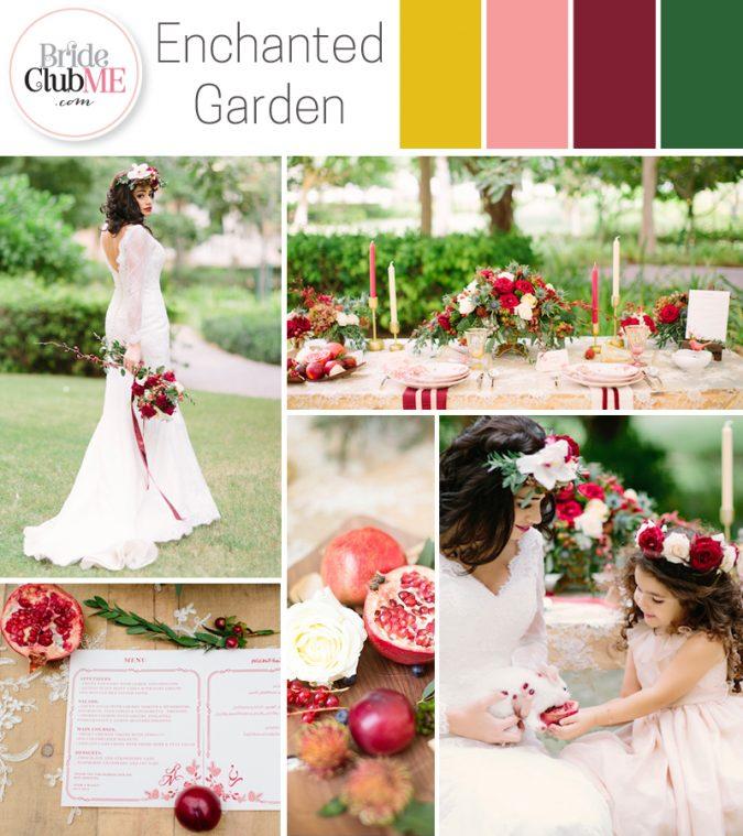 garden wedding colour scheme