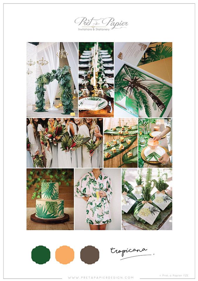 Tropicana Wedding Colour Scheme