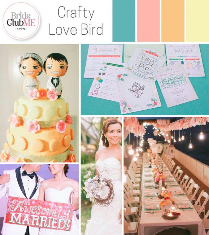 love bird wedding colour scheme