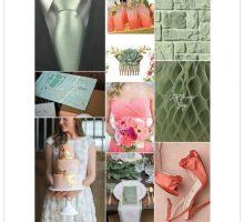 Wedding Colour Scheme { Sage, Coral & Fuschia Inspired }