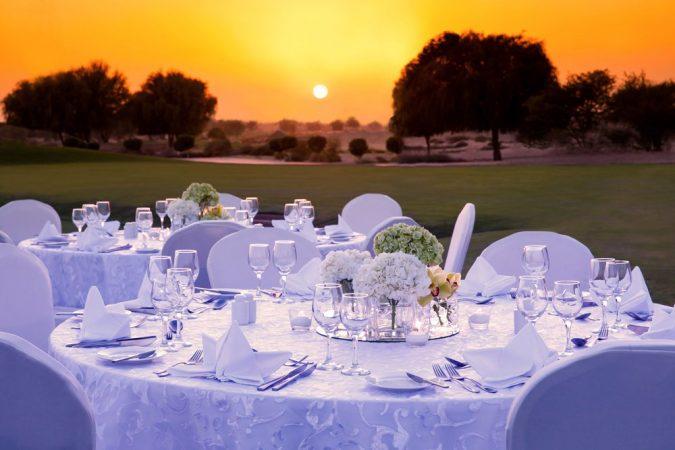 ballroom or outdoor wedding