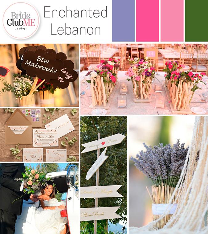 enchanted lebanon wedding colour scheme