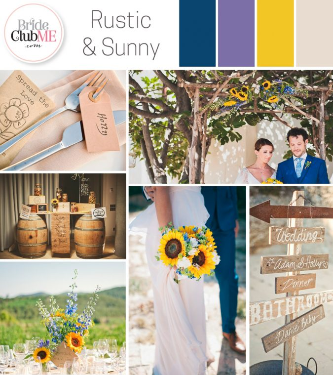 Rustic Sunshine Wedding Colour Scheme