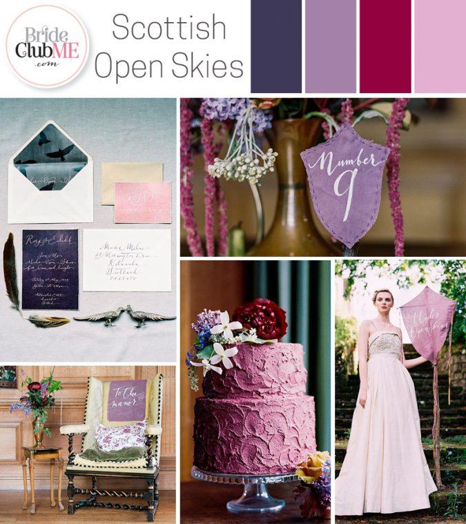 Scottish Open Skies Wedding Colour Scheme