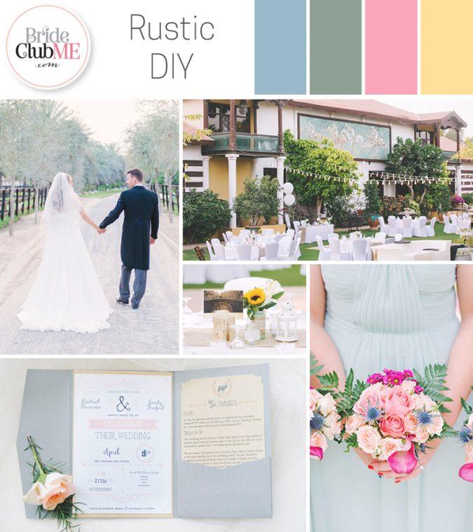 Rustic DIY Wedding Colour Scheme