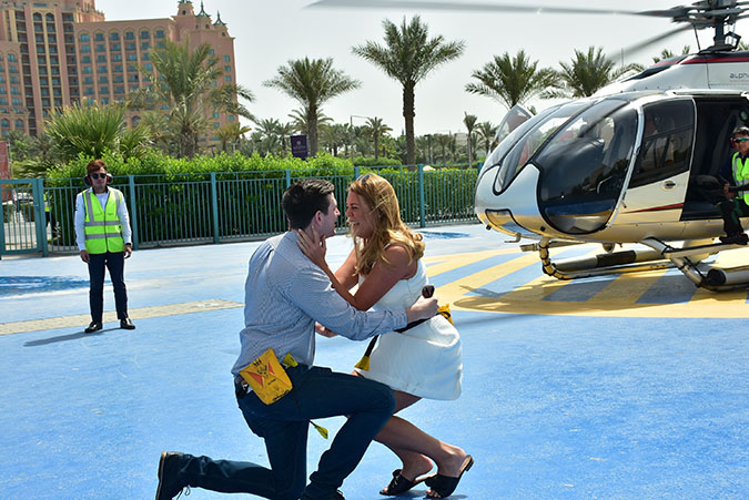 Surprise Helicopter Proposal In Dubai