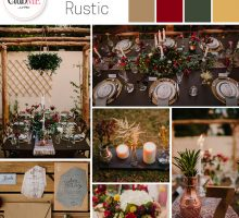Wedding Colour Scheme { Festive Rustic }