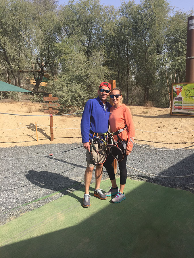aventura adventure park - a unique hen do activity in dubai