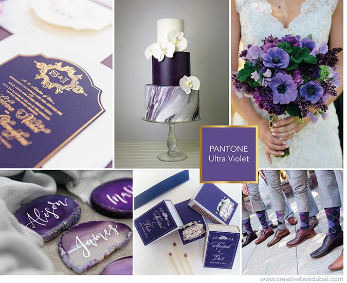 ultra violet wedding colour scheme