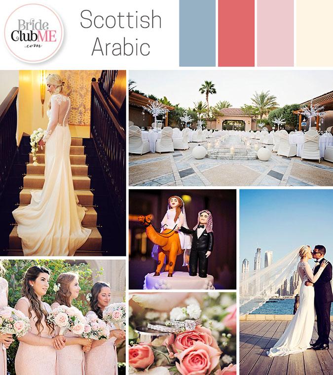 Scottish Arabic Wedding Colour Scheme
