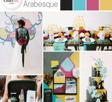 Wedding Colour Scheme { Urban Arabesque }