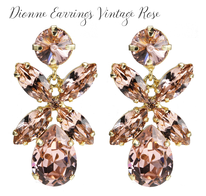 Dione Earrings Vintage Rose