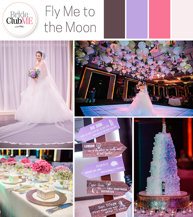 Fly Me To The Moon Wedding Colour Scheme