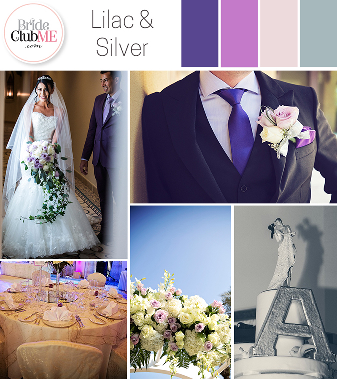Lilac And Silver Wedding Colour Scheme