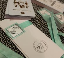 Real Dubai Bride Maja Lunsjo: Be Our Guest ~ Our DIY Wedding Invites