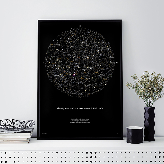Greater Skies Star Maps Perfect UAE Wedding Gift